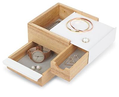 Šperkovnice STOWIT mini bílá/přírodní 1005314390