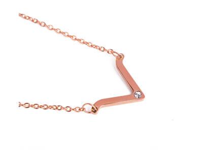 Stylový náhrdelník s přívěskem Visage Rose Gold