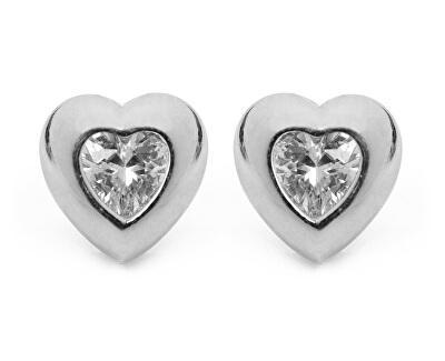 Krásné stříbrné náušnice s krystaly Truly