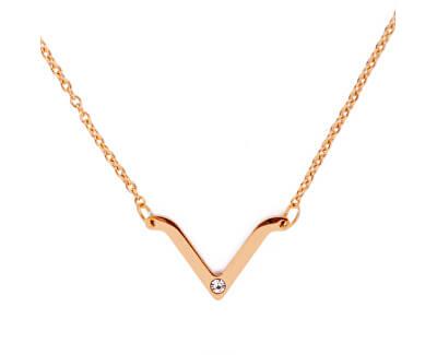 Moderní náhrdelník s přívěskem Visage Gold