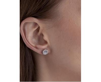 Oceľové náušnice s perleťou VE1047S