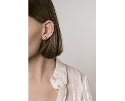 Cercei placați cu aur roz cu perle VE1093R