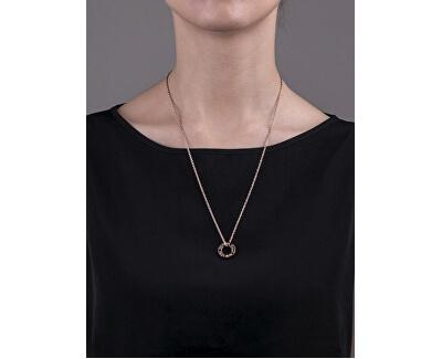 Ružovo pozlátený oceľový náhrdelník VN1054R