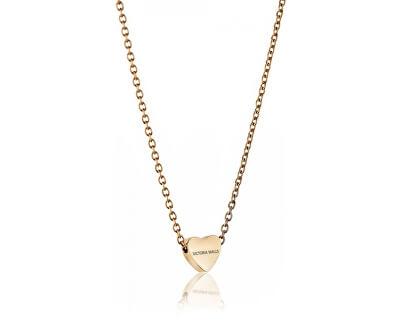 Pozlátený náhrdelník so srdiečkom VN1051G