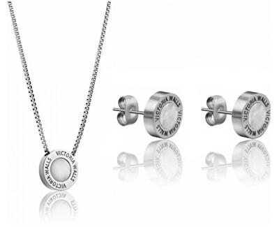 Súprava náušníc a náhrdelníka s perleťou VS1059S