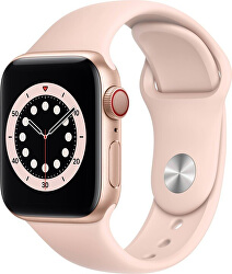 Apple Watch SE GPS + Cellular, 40mm Gold Aluminium Case with Pink Sand Sport Band - Regular