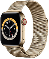 Apple Watch Series 6 GPS + Cellular, 44mm Gold Stainless Steel Case with Gold Milanese Loop