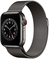 Apple Watch Series 6 GPS + Cellular, 44mm Graphite Stainless Steel Case with Graphite Milanese Loop