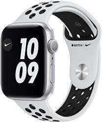 Watch Nike Series 6 40mm stříbrný hliník s platinovým/černým sportovním řemínkem Nike