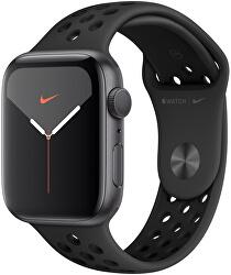 Watch Series 5 Nike 40mm vesmírně šedý hliník s černým Nike řemínkem