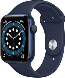 Watch Series 6 40mm modrý hliník s námořnicky tmavomodrým sportovním řemínkem