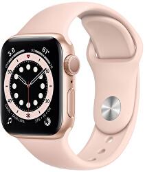 Watch Series 6 40mm zlatý hliník s pískově růžovým sportovním řemínkem