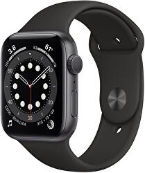 Watch Series 6 44mm vesmírně šedý hliník s černým sportovním řemínkem