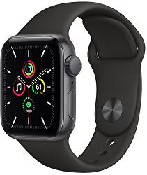 Watch Series SE 44mm vesmírně šedý hliník s černým sportovním řemínkem