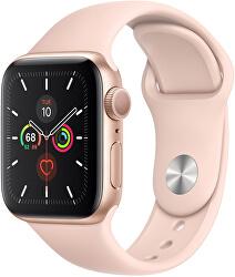 Watch Series SE 40mm zlatý hliník s pískově růžovým sportovním řemínkem