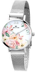 Dámské květinové hodinky 007-9MB-PT610119A