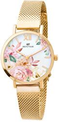 Dámské květinové hodinky 008-9MB-PT610119B