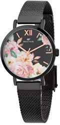 Dámské květinové hodinky 008-9MB-PT610119D