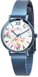 Dámské květinové hodinky 008-9MB-PT610119E