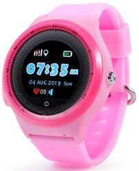 KT06 dětské hodinky s GPS růžové