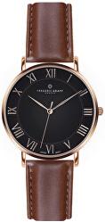 Rose Dom Cognac Brown Leather FAE-B006R