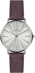Silver Monte Rosa Lychee bordeaux Leather FAL-B016S