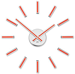Nalepovací hodiny Modular Red FT9400RD