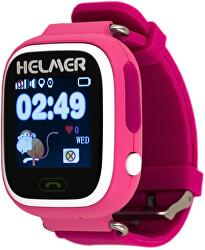 Smart Touch Uhr mit GPS Locator LK 703 pink
