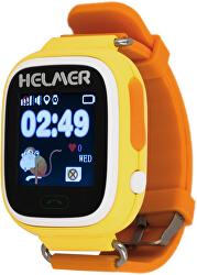 Smart Touch Uhr mit GPS Locator LK 703 gelb