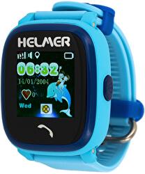 Chytré dotykové vodotěsné hodinky s GPS lokátorem LK 704 modré