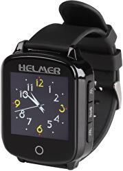 Chytré dotykové volací hodinky s GPS lokátorem pro seniory - LK 706 černé