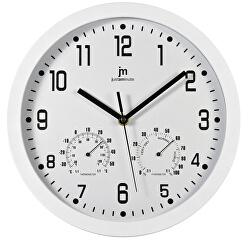 Nástěnné hodiny s teploměrem a vlhkoměrem 14944B