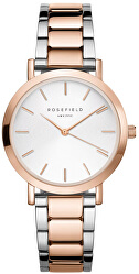 The Tribeca White Sunray Steel Silver Rose Gold Duo TWSSRG-T64