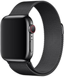 Apple Watch řemínek - milánský tah 40 mm černý - SLEVA I