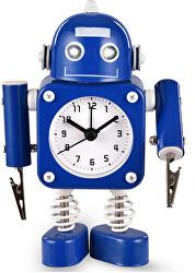 Dětské hodiny Robot - modré - SLEVA