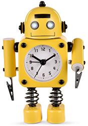 Dětské hodiny Robot - žluté - SLEVA