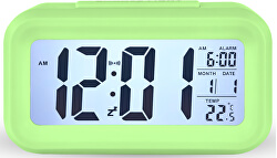 Stolní digitální hodiny - zelené - SLEVA