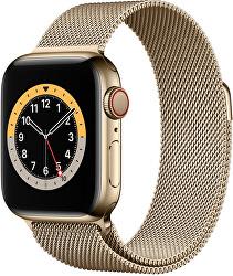 Ocelový milánský tah pro Apple Watch - Zlatý 38/40 mm