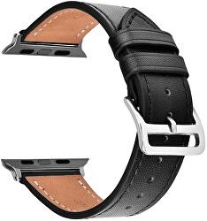 Kožený řemínek - Černý 42/44 mm