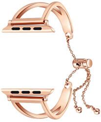Einstellbarer Stahl-Zug für Apple Watch Rosa Gold