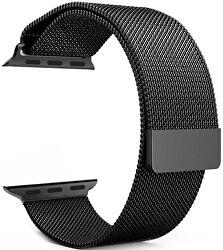 Milánói acél szíj Apple Watch - Fekete 42/44 mm