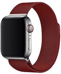 Ocelový milánský tah pro Apple Watch - Vínový 38/40 mm