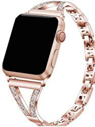 Kovový tah s kamínky pro Apple Watch - 38/40 mm