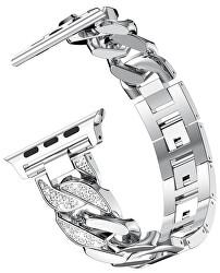 Kovový tah Silver pro Apple Watch - 42/44 mm