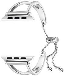 Nastavitelný ocelový tah pro Apple Watch - Stříbrný 38/40 mm
