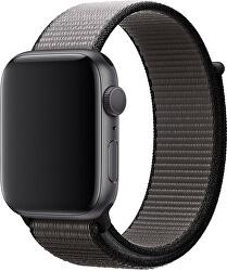 Provlékací sportovní řemínek pro Apple Watch - Černá/Šedá 38/40 mm