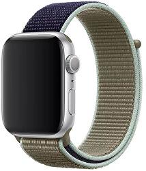 Provlékací sportovní řemínek pro Apple Watch - Khaki 42/44 mm
