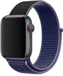 Provlékací sportovní řemínek pro Apple Watch - Modrá/Černá 38/40 mm