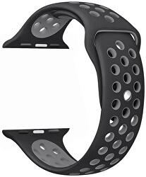 Silikonový řemínek pro Apple Watch - Černá/Šedá 42/44 mm