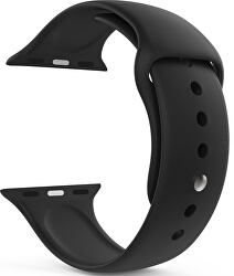 Szilikon szíj Apple Watch - Fekete 38/40 mm - S/M